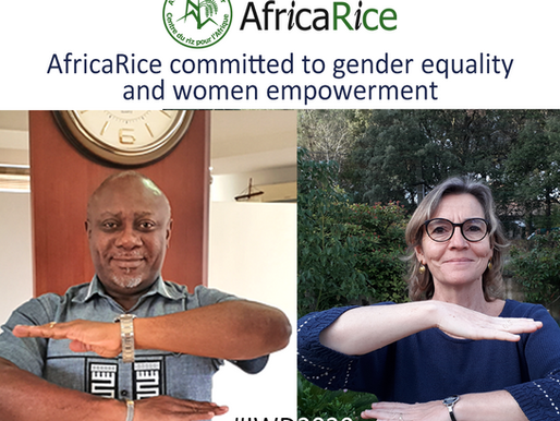 AfricaRice reaffirms commitment to gender equality on International Women's Day 2020
