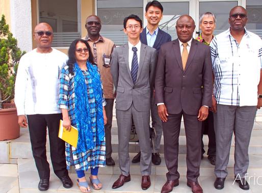 CARD Coordinator and JICA representative in Cote d'Ivoire visit AfricaRice
