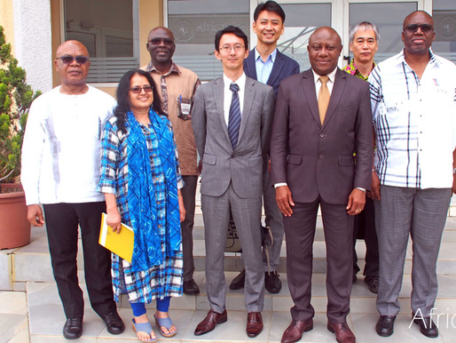 CARD Coordinator and JICA representative in Cote d'Ivoire visit AfricaRice