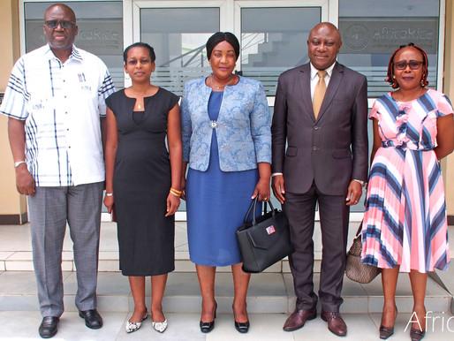 Gabon delegation visits AfricaRice to strengthen collaboration