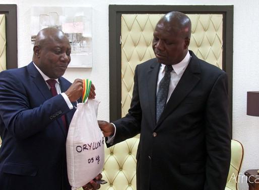 Une délégation d'AfricaRice rend une visite de courtoisie au Ministre ivoirien