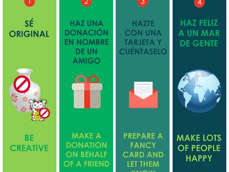 Estas Navidades apuesta por un regalo solidario. Choose a solidary gift.