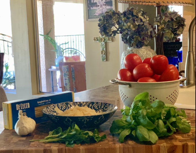 Summertime pasta; all the ingredients for a fabulous dish!