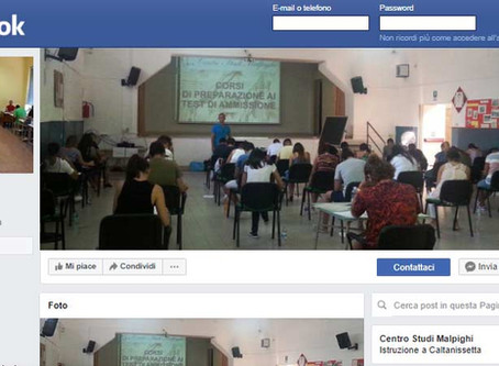 Pagina Facebook Centro Studi Malpighi