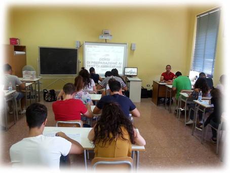 CORSO ESTIVO DI PREPARAZIONE AI TEST DI AMMISSIONE UNIVERSITARI