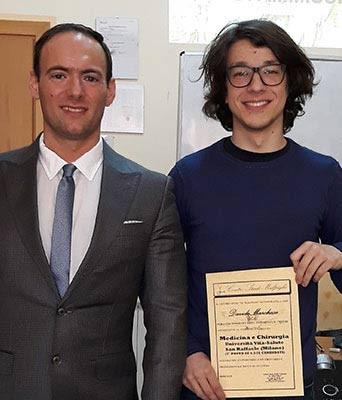 Prof. D'Ambrogio e il corsista del Centro Studi Malpighi Davide Marchese