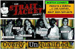"""Cast of """"Overly Unqualified"""" of Strait Jacket Society Comedy Troupe"""