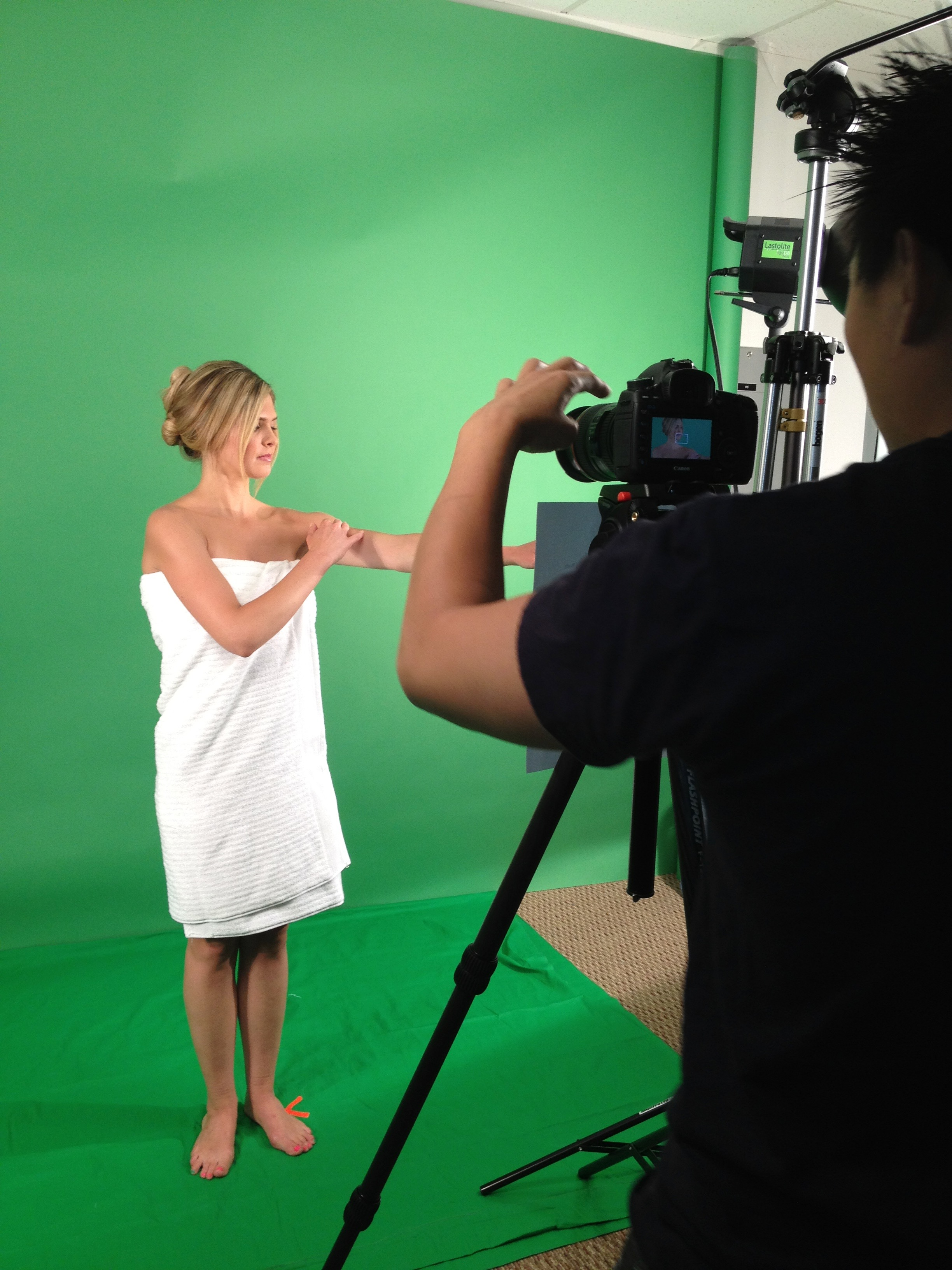Behind the scenes of commercial shoot