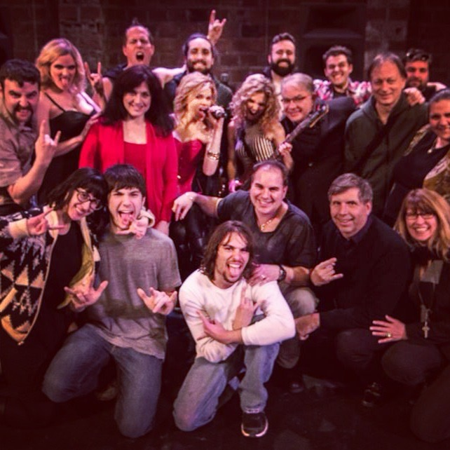 "Cast and crew of ""Rock Story"""