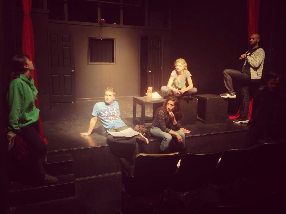 Rehearsal for Strait Jacket Comedy Troupe