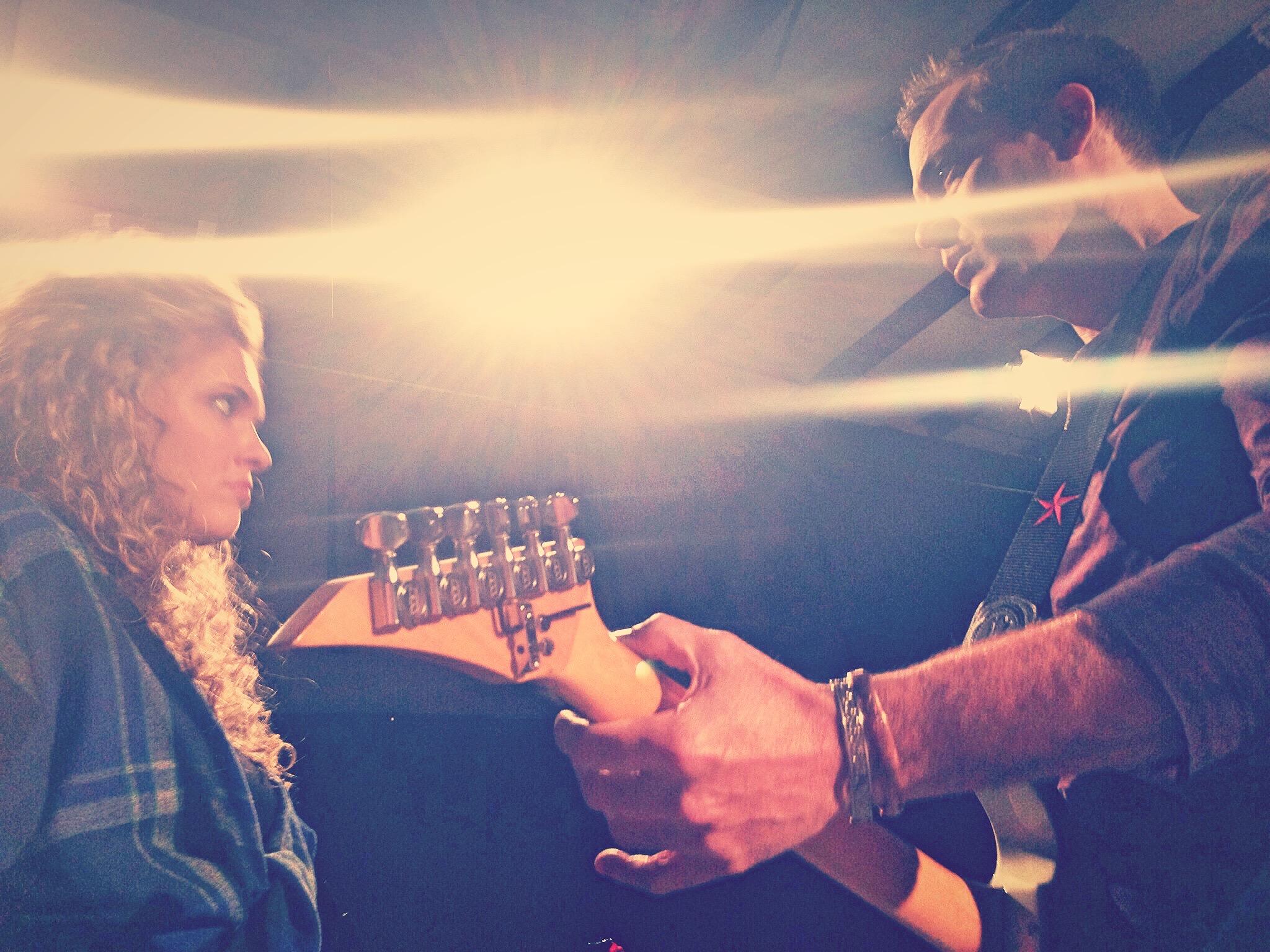 """On set of """"Rock Story"""""""
