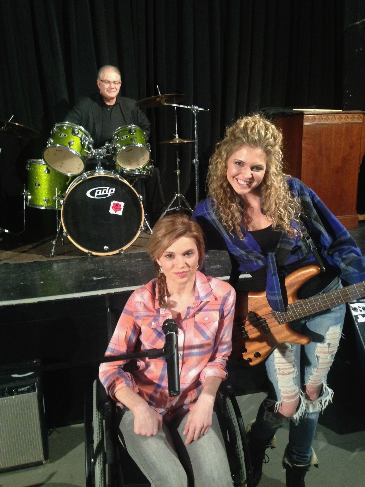 "With Mandy Bruno Bogue On set of ""Rock Story"""