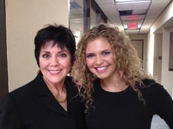 "With Joyce DeWitt on set of ""Rock Story"""