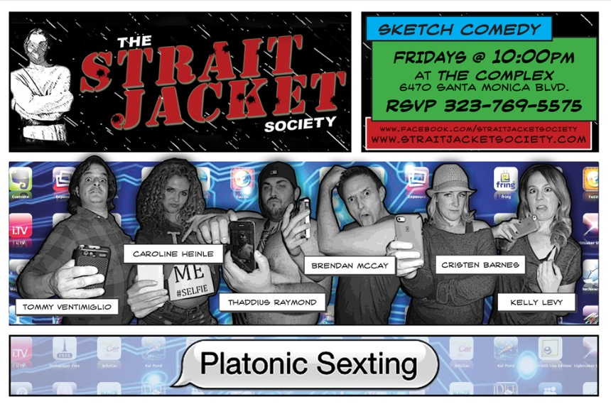 "Cast of ""Platonic Sexting"" of Strait Jacket Society Comedy Troupe"