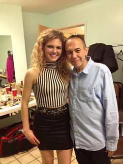 """With Gilbert Gottfried on set of """"Rock Story"""""""