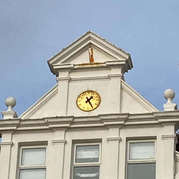Want to know the time and cant find a Policeman? Look up!