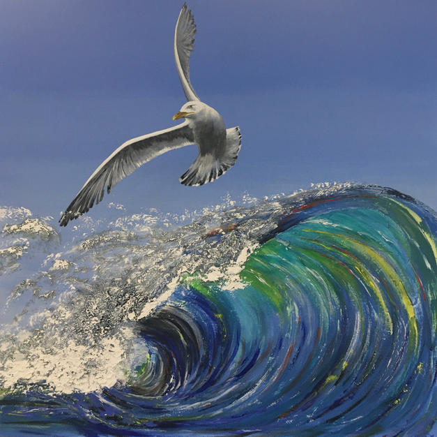 Gull and Wave