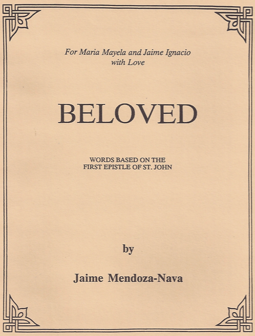"""Beloved"" sheet music pdf / for Voice & Keyboard"