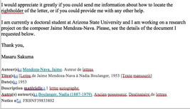 Jaime's Letter to Nadia Boulanger