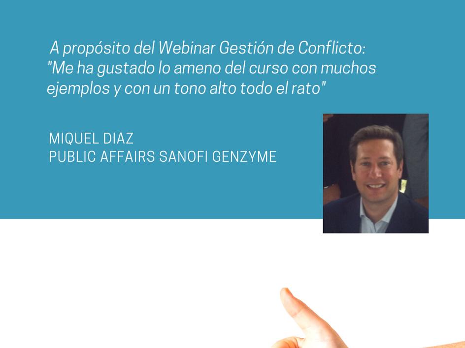 Testimonio Miquel Diaz sobre Patricia Soler