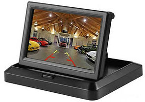 5 inch foldable rear view camera lcd low