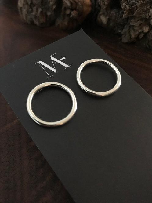 Sterling Circle Post Earrings