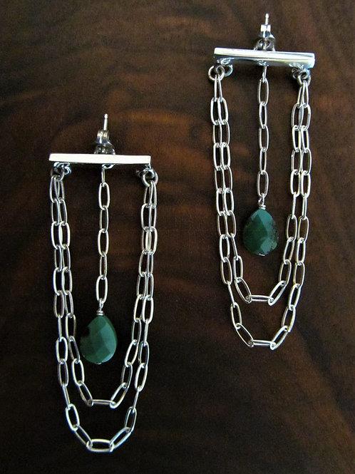 Chain Chandelier Bar Earring