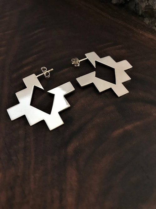 Diamond Rug Pattern Earrings