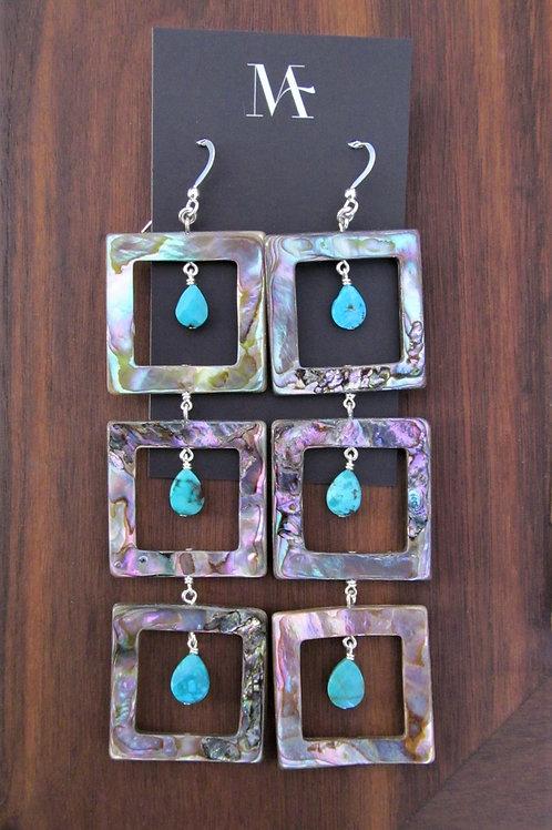 Abalone Window Earrings