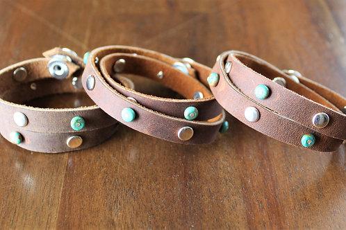 Green Turquoise Wrap Bracelet