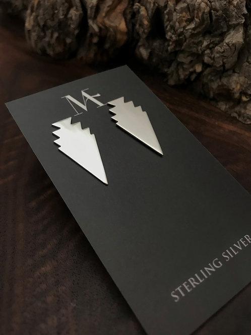Arrowhead Earrings with Cloud Design