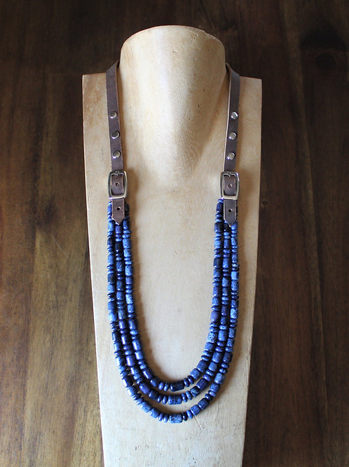 Dumortierite Bridle Necklace