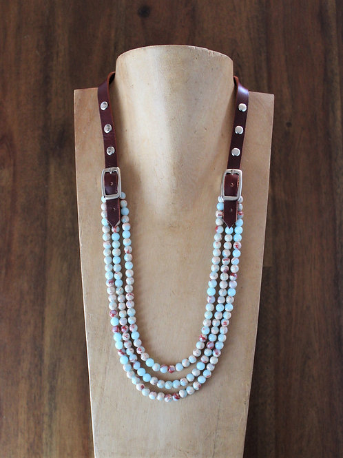 Agalmatolite Bridle Necklace