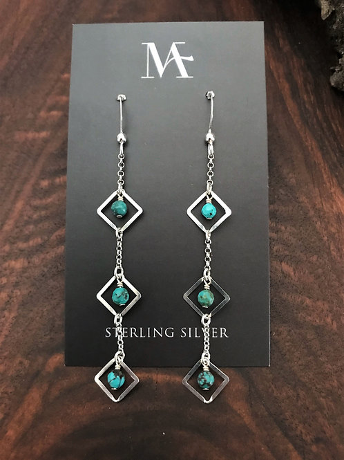 Sterling Three Tier Earrings