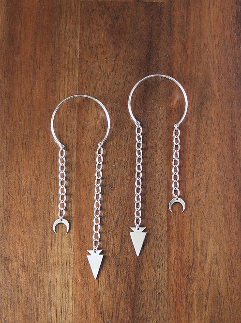 Arrowhead and Naja Mobile Earring