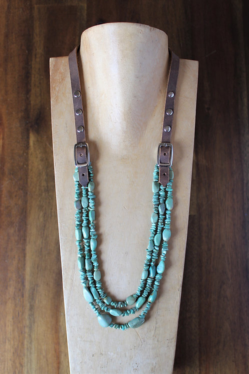 Green Turquoise Bridle Necklace