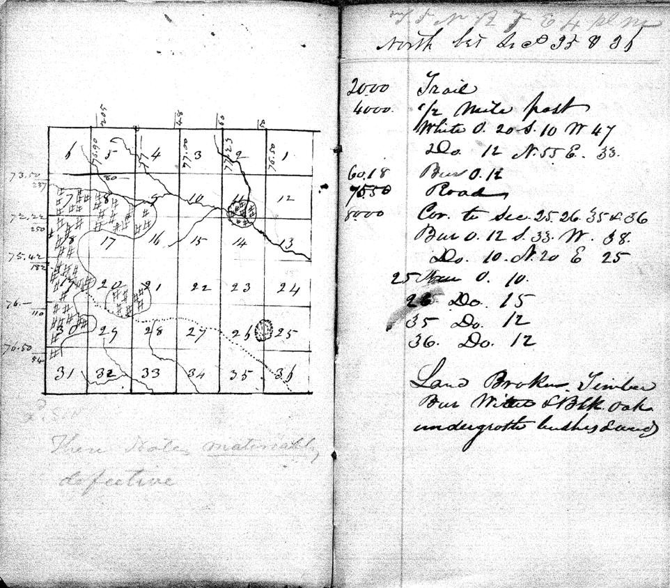 1833 First Historical Survey Notes