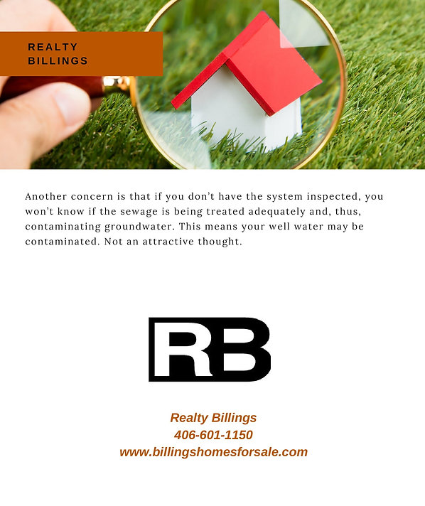 Buying a home with a septic CORRECTED FO