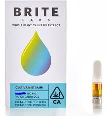 BRITE LABS ORANGE ZITTLES .5 VAPE CART