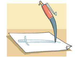 האם העט חד מהחרב ?