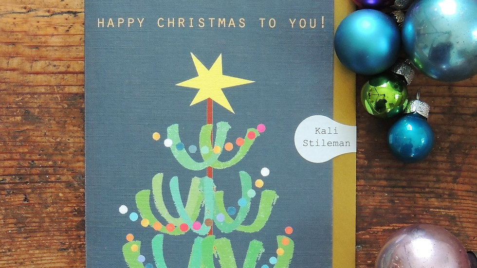 Funky Christmas Tree Card (Standard 15 x 10.5 cm)