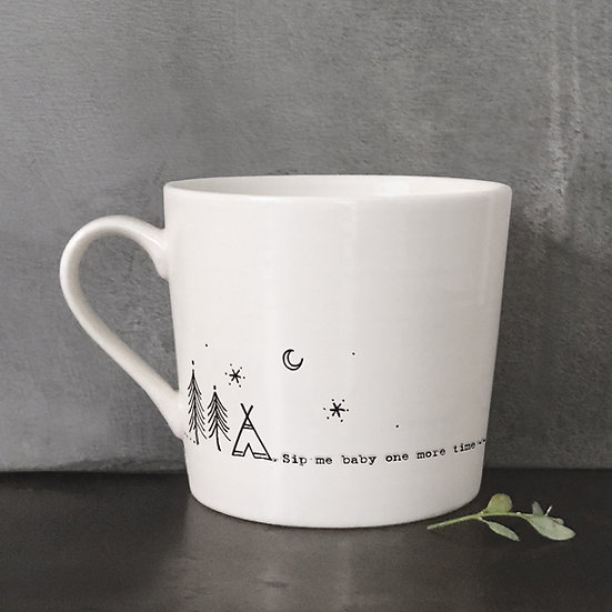 """White Porcelain Mug - """"Sip Me Baby One More Time..."""" with Gift Box"""