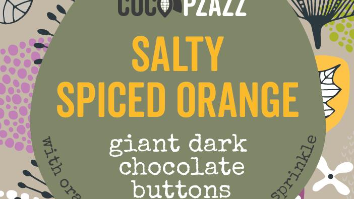 Salty Spiced Orange Giant Dark Chocolate Buttons  (96g)