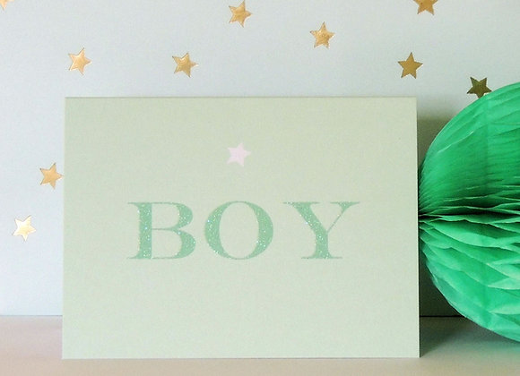 Blue Starry Boy Card (Tiddly Widdly 12 x 9cm)