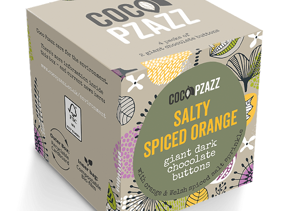 Salty Spiced Orange Giant Dark Chocolate Buttons  (96g) Vegan