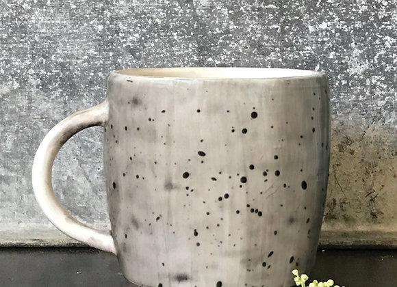 "Rustic Porcelain Mug ""Speckled Wash"" with Gift Box"