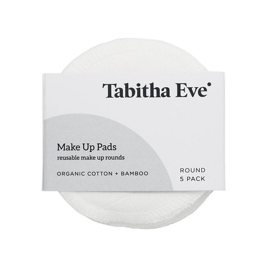 Organic Cotton Make Up Pads - Pack of 5 (Reusable)