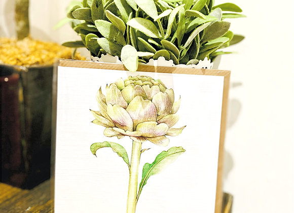 "Botanical ""Artichoke"" - Greeting Card"