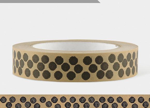 Wide Brown Paper Tape - Black Dots (50m)