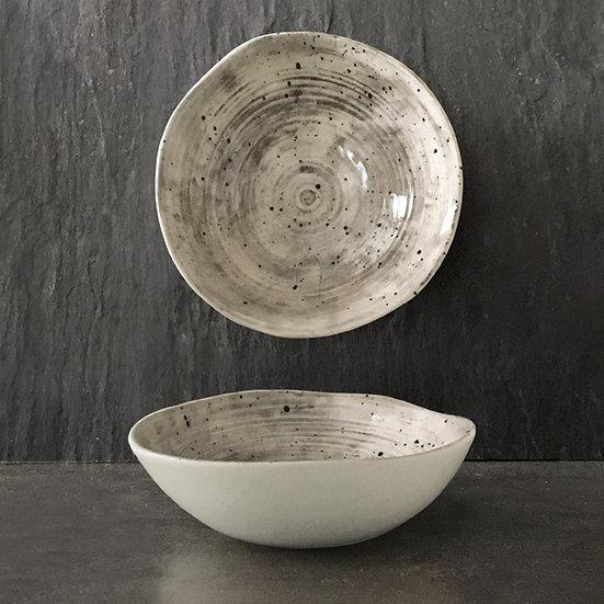 Porcelain Speckled-Wash Jewellery & Trinket Dish